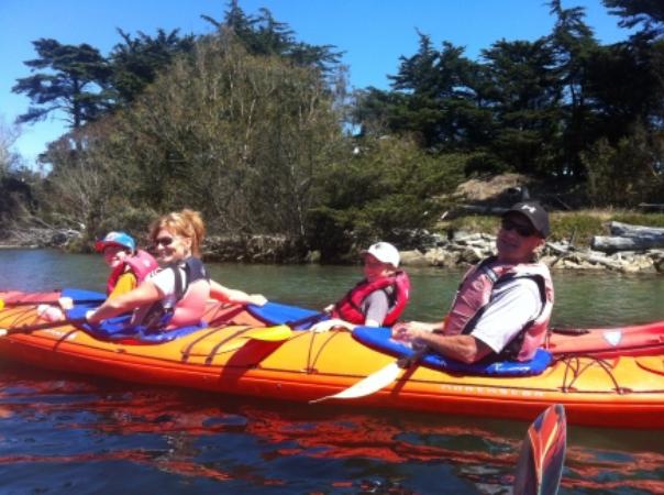 family adventure kayak tour in elkhorn slough