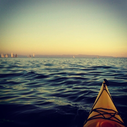 sunset kayak tour santa cruz